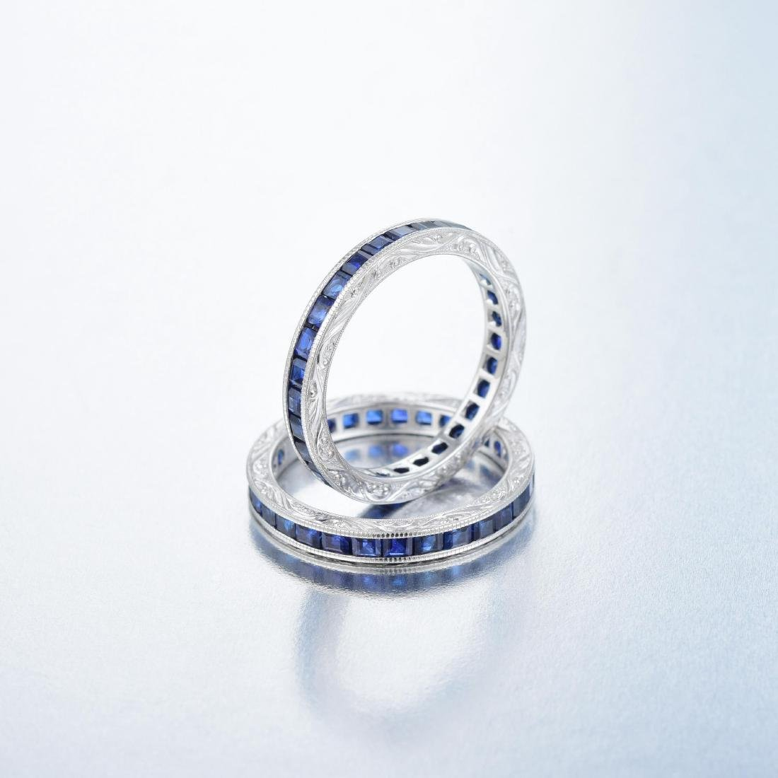 A Pair of Sapphire Eternity Bands - 2