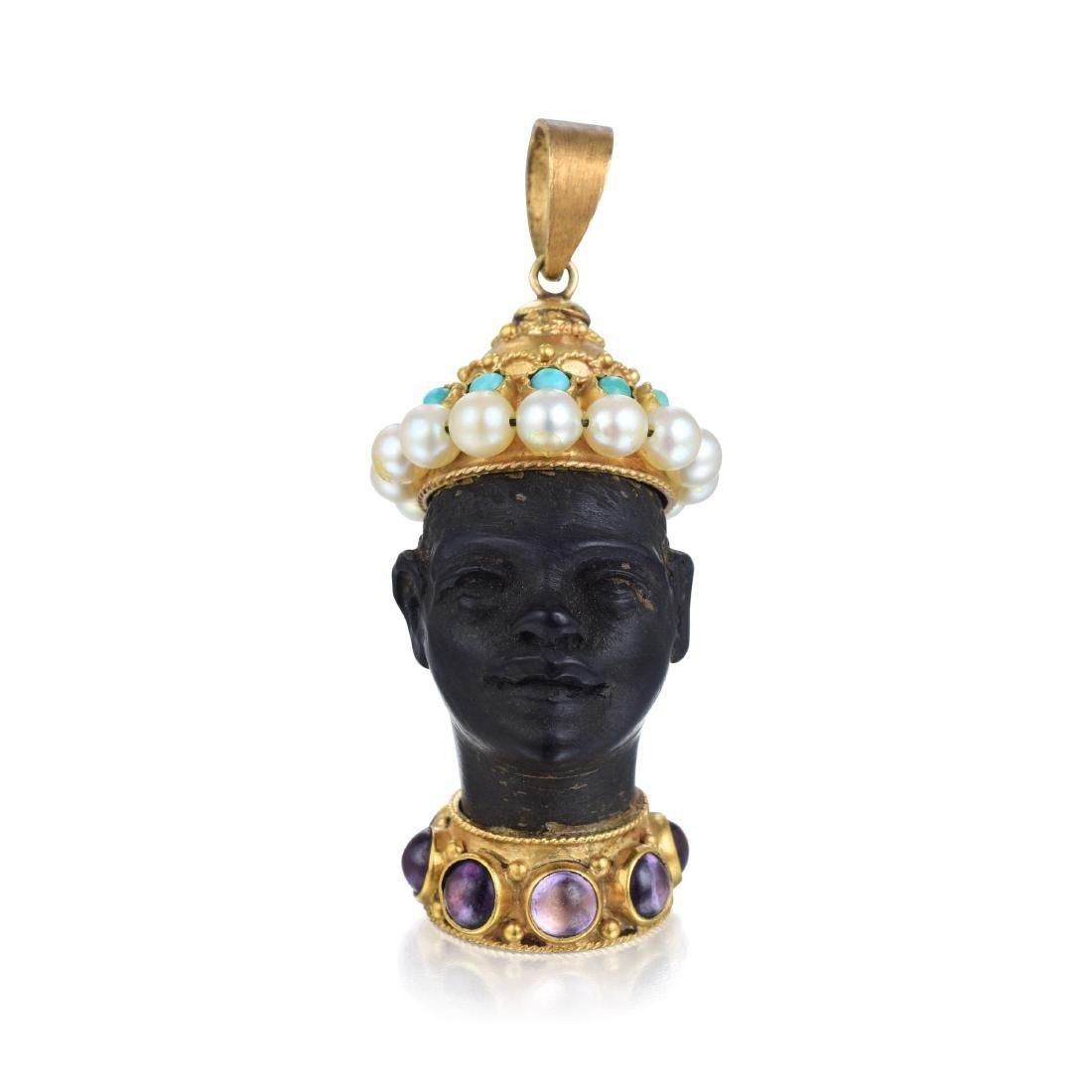 A Blackamoor Pendant