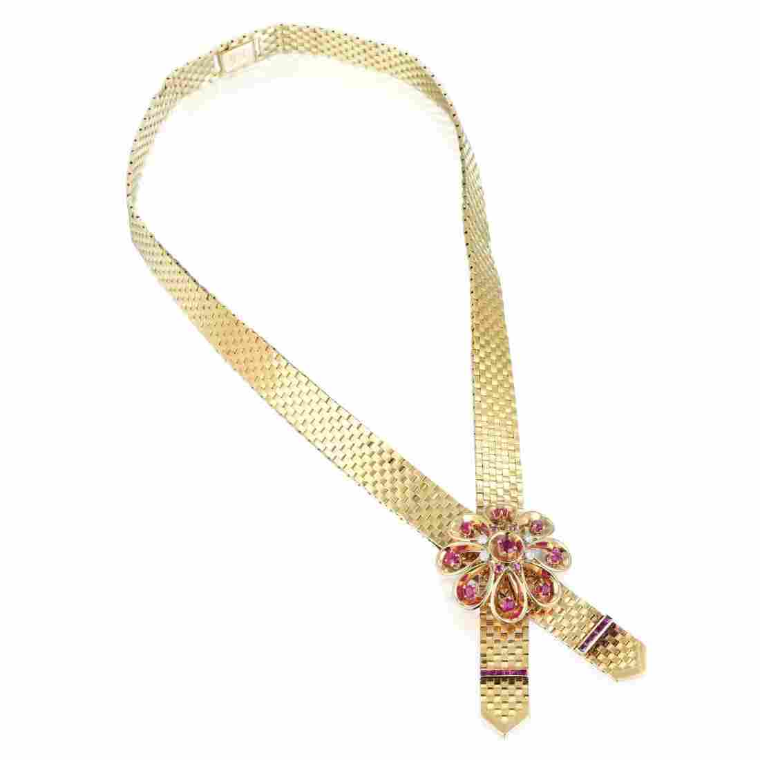 Tiffany & Co. Ruby and Diamond Necklace
