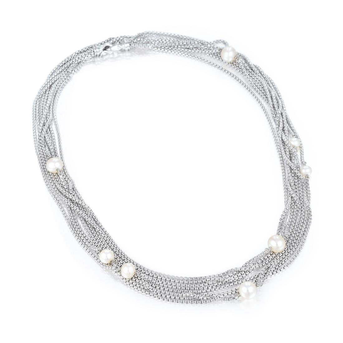 David Yurman Pearl Silver Necklace - 2