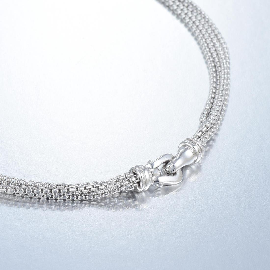 David Yurman Pearl Silver Necklace - 4