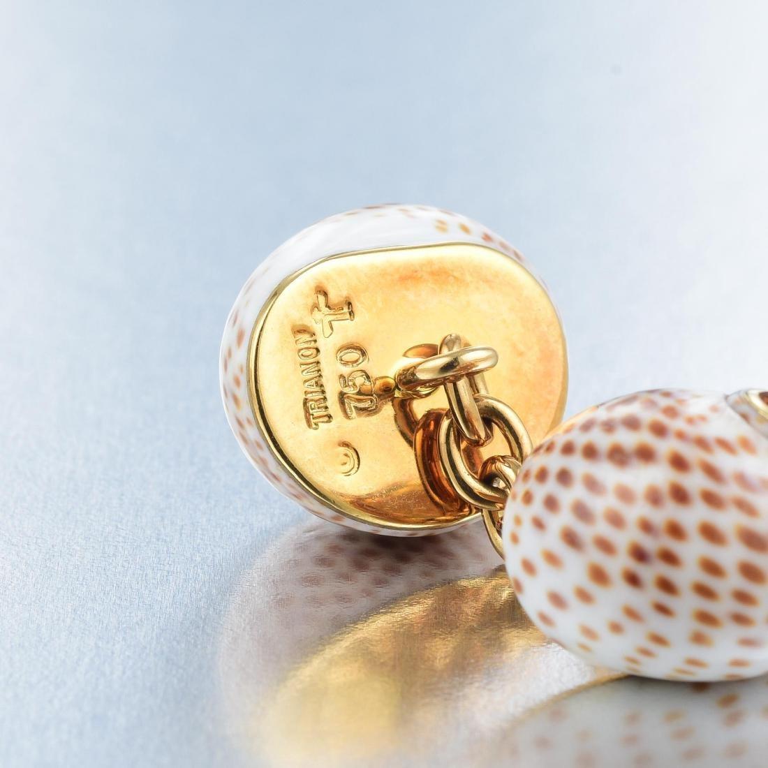 Trianon Seashell and Citrine Cufflinks - 2