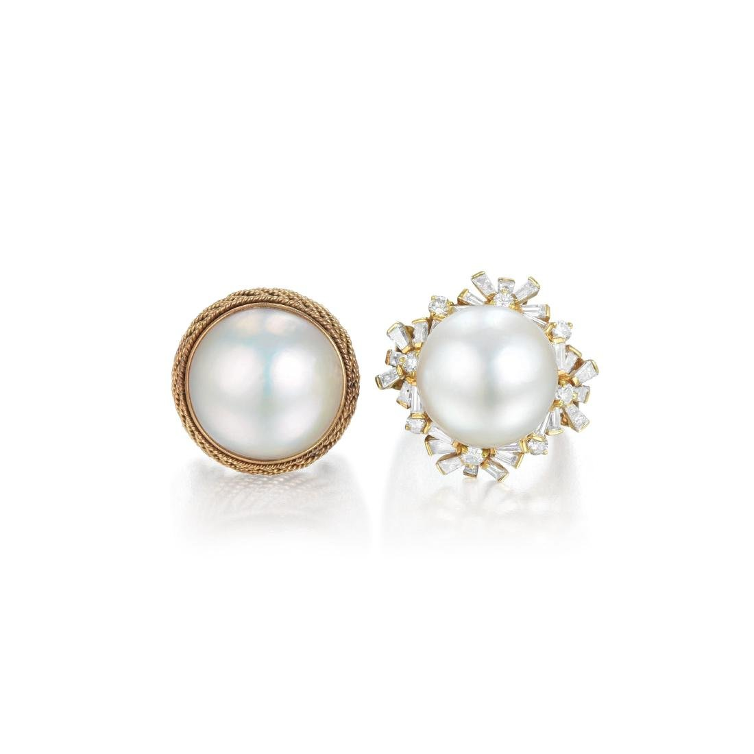 A Lot of Two Pearl and Diamond Rings