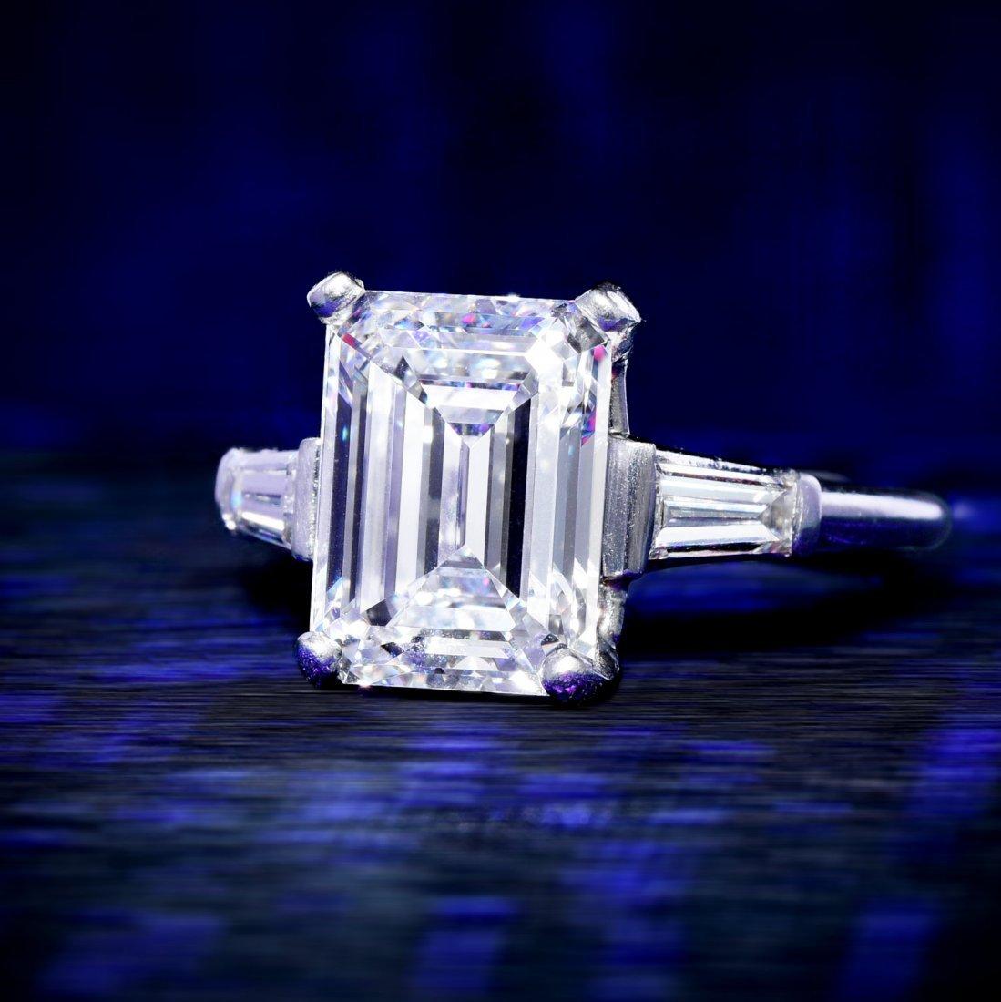 Van Cleef & Arpels 3.33-Carat E-IF Diamond Ring
