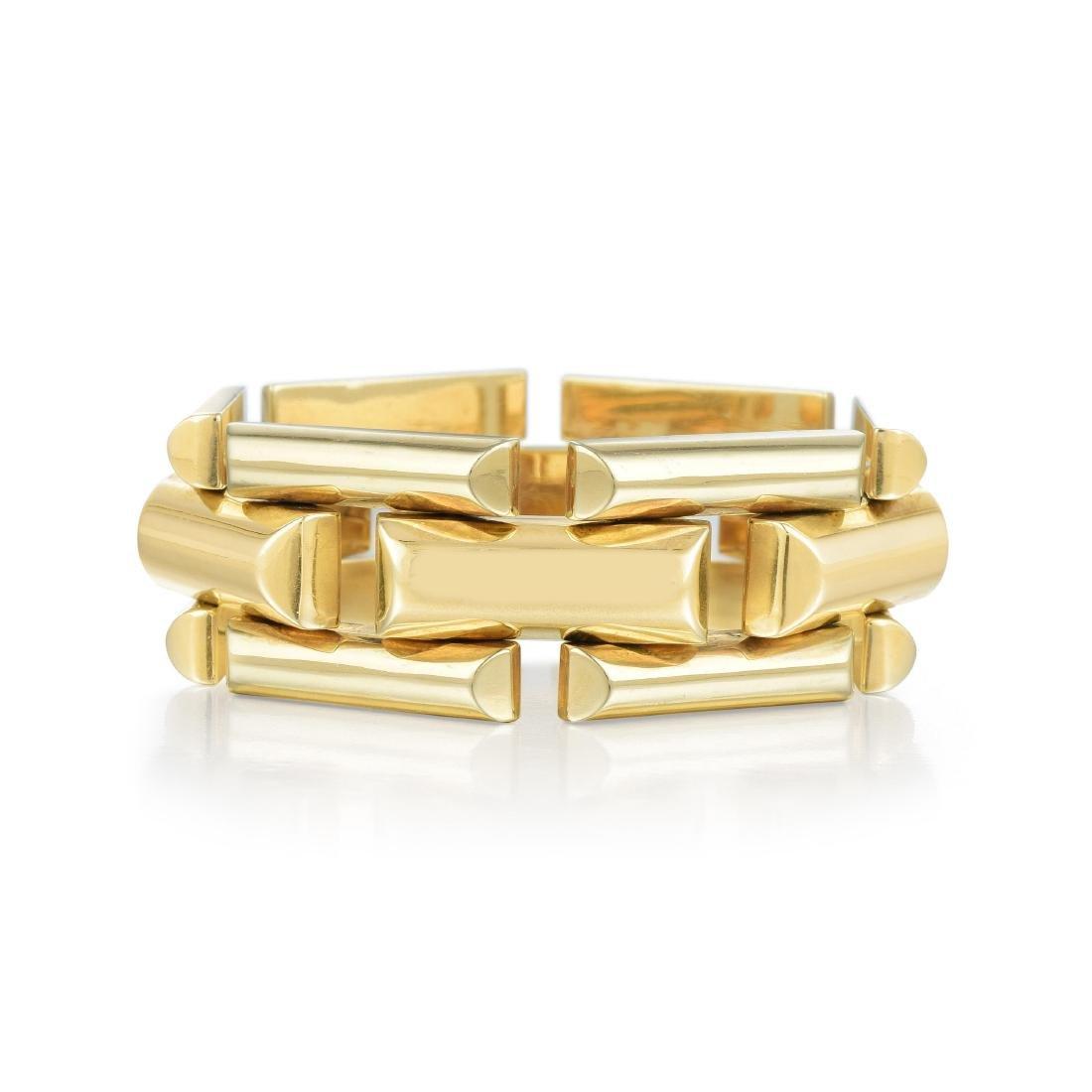 A Large Link Gold Bracelet