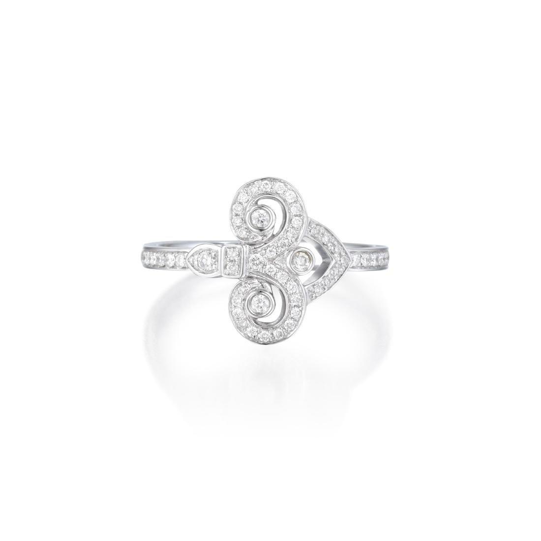 Tiffany & Co. Diamond Fleur de Lis Ring