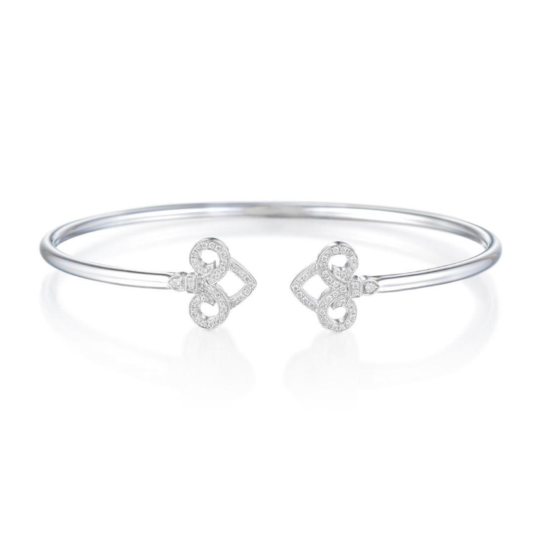 Tiffany & Co. Fleur de Lis Wire Bangle