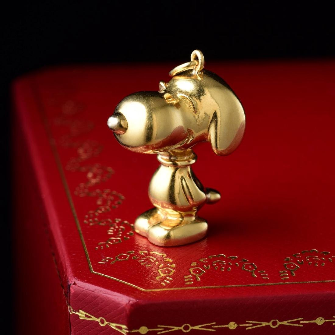 Cartier Gold Snoopy Pendant
