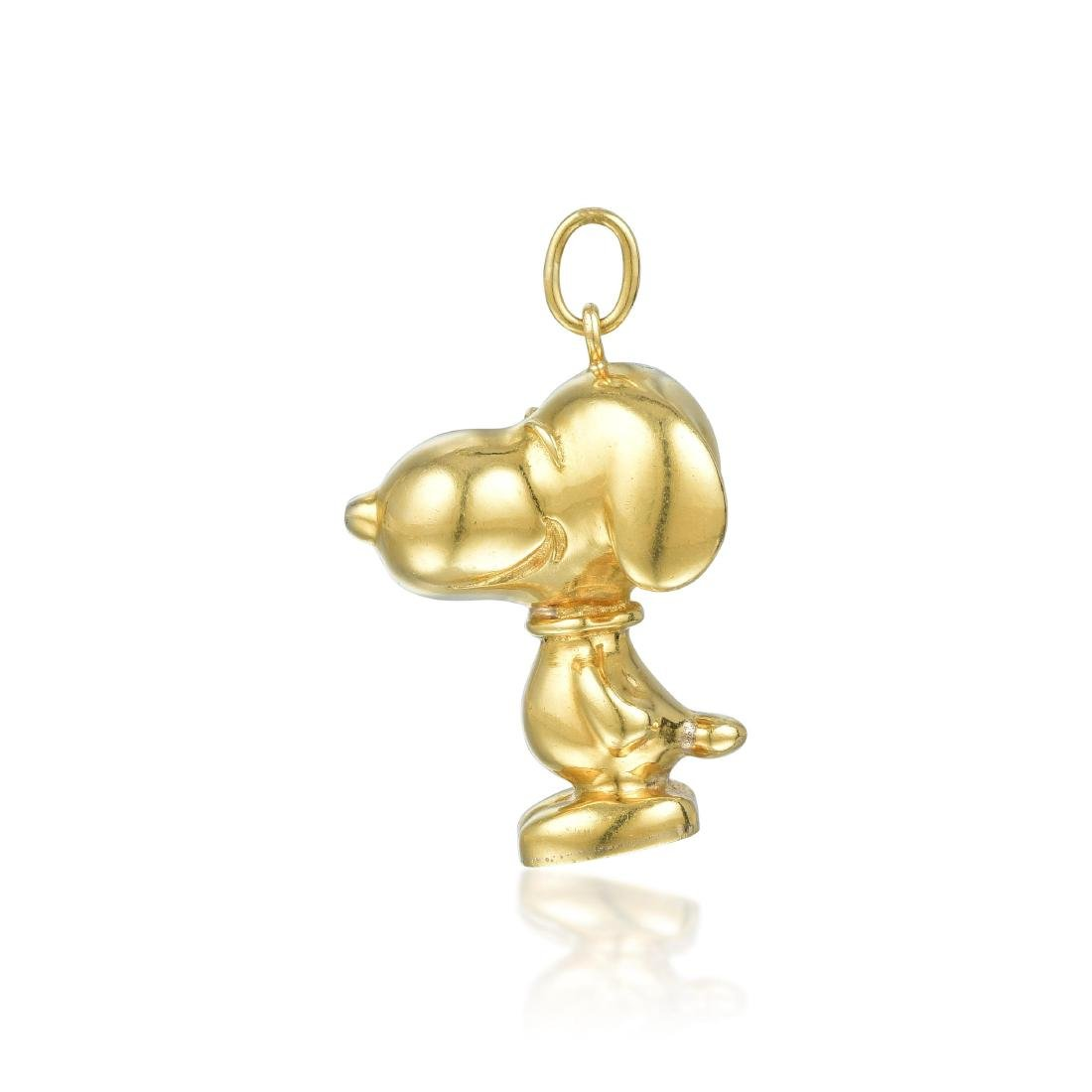 Cartier Gold Snoopy Pendant - 3