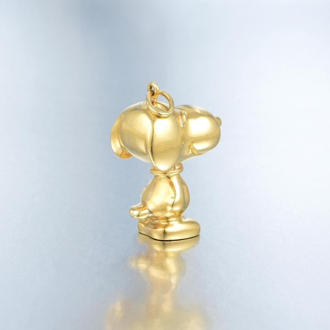 Cartier Gold Snoopy Pendant - 4