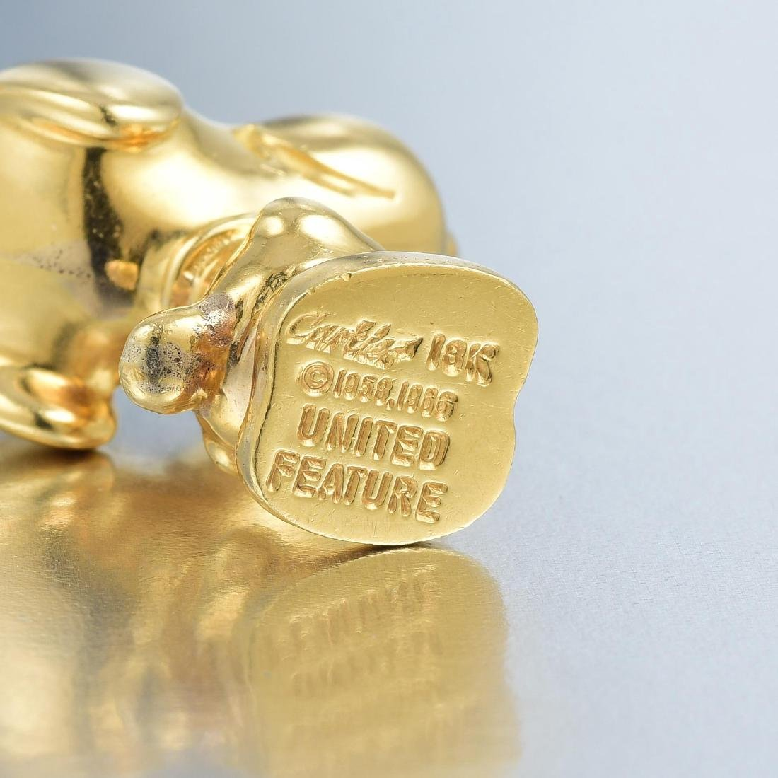 Cartier Gold Snoopy Pendant - 6
