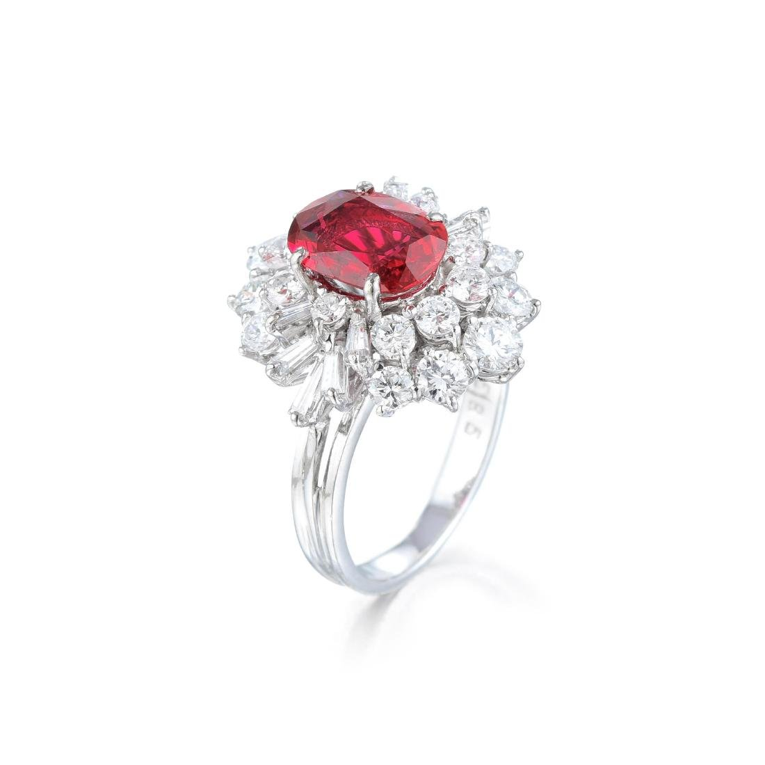 An Unheated Ruby and Diamond Ring - 2