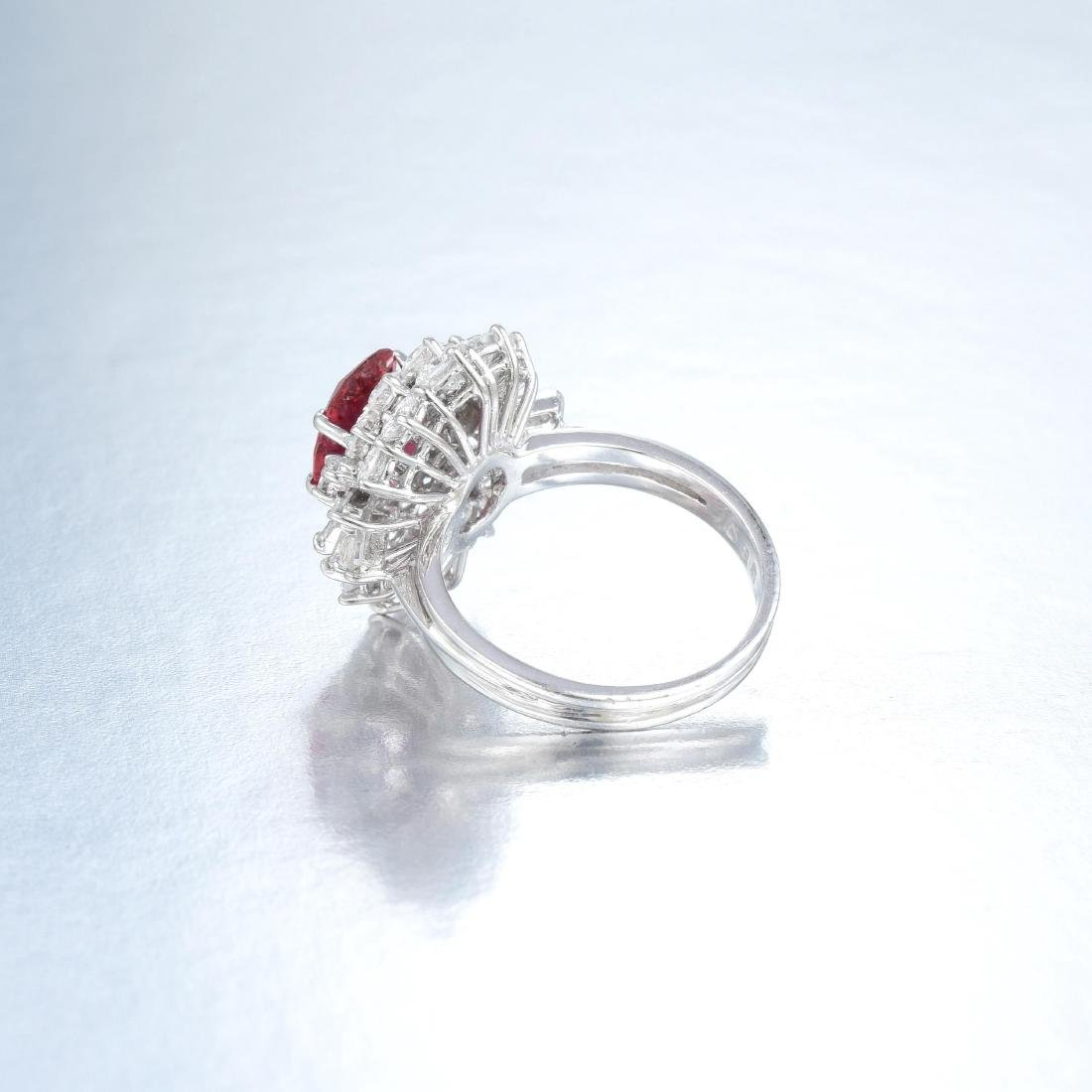 An Unheated Ruby and Diamond Ring - 3