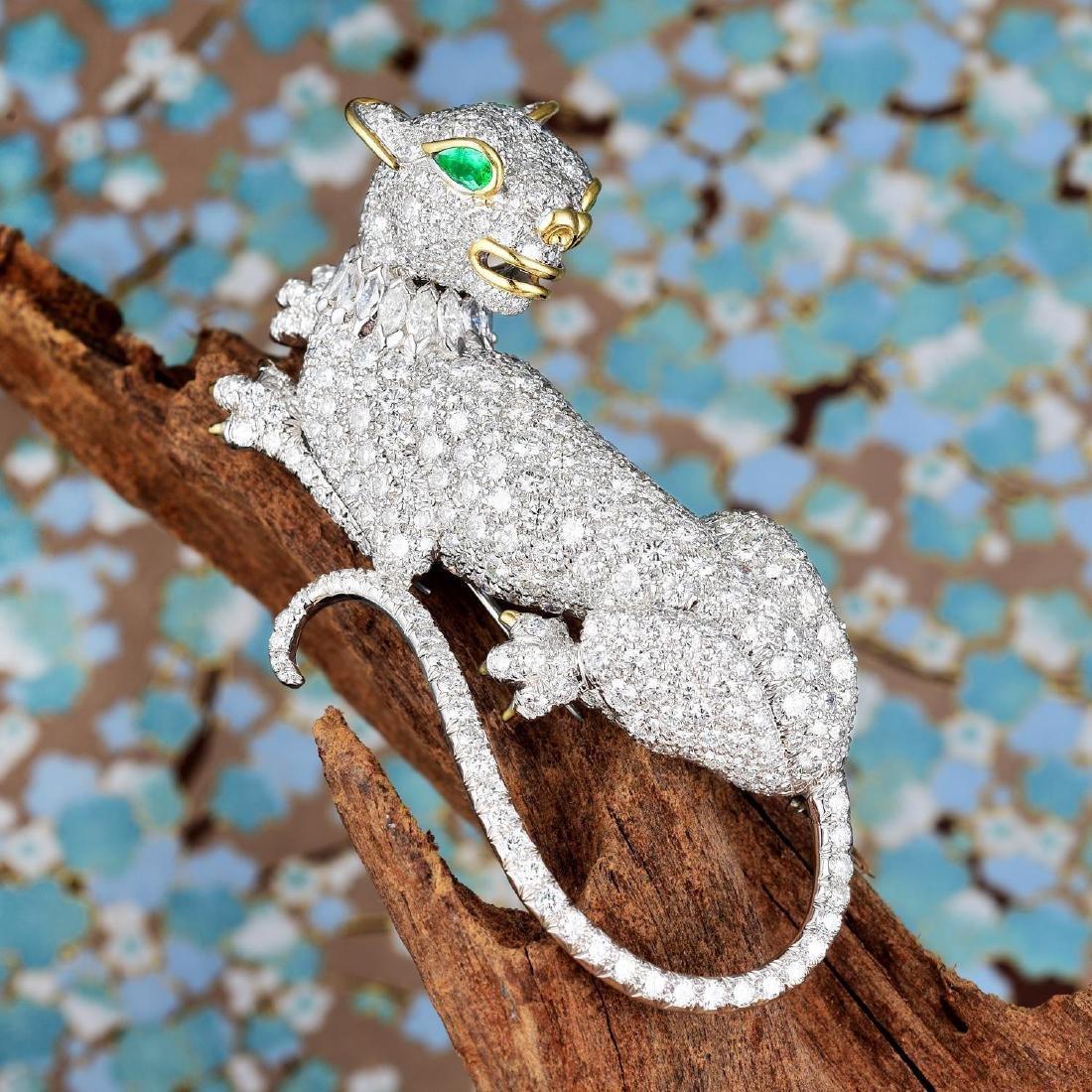 David Webb Diamond Panther Pin