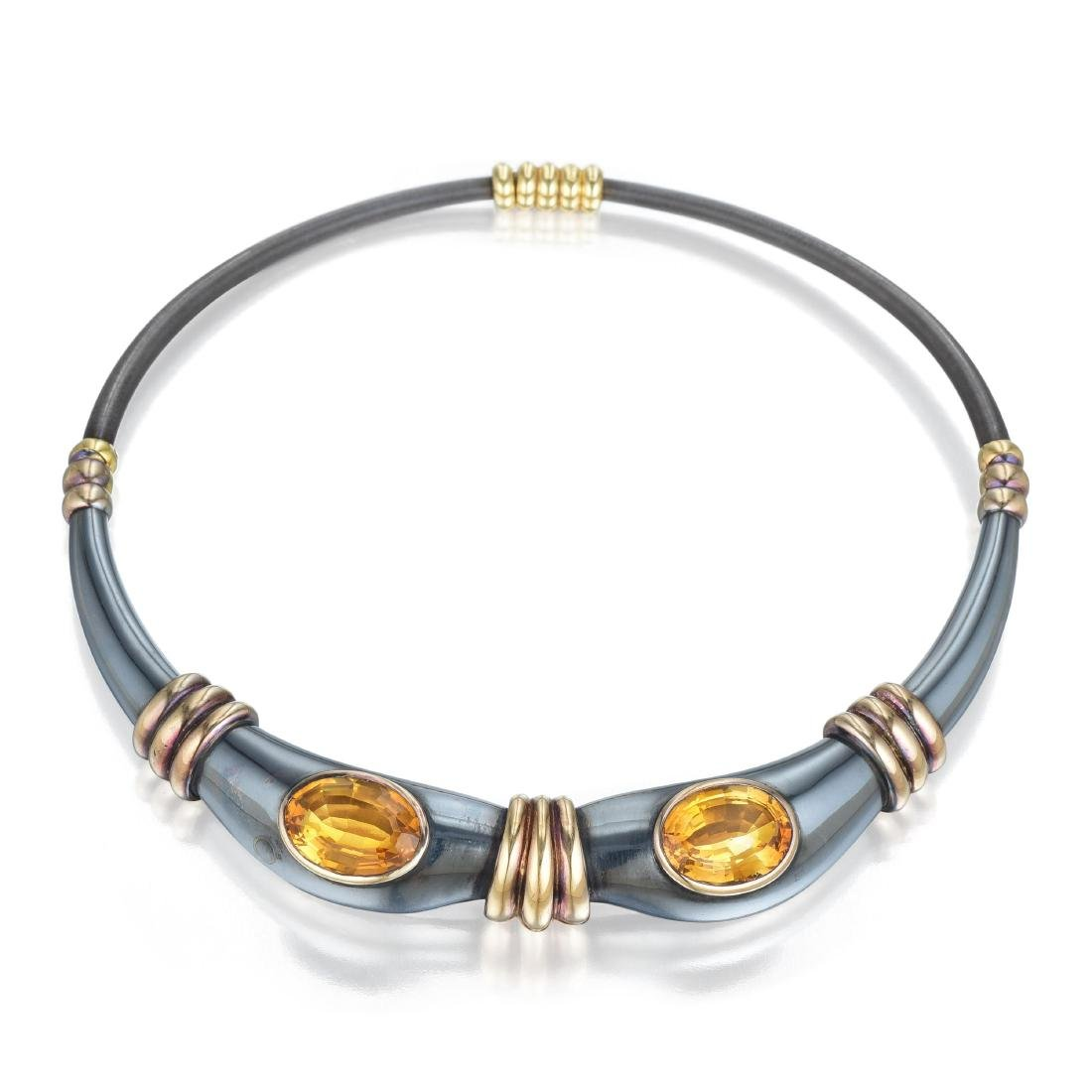 Rene Boivin Citrine Choker Necklace