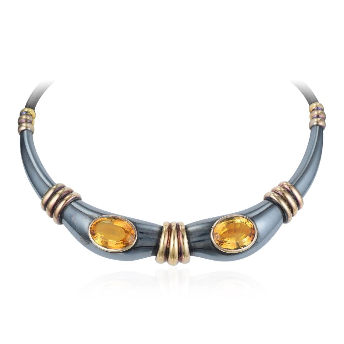 Rene Boivin Citrine Choker Necklace - 2