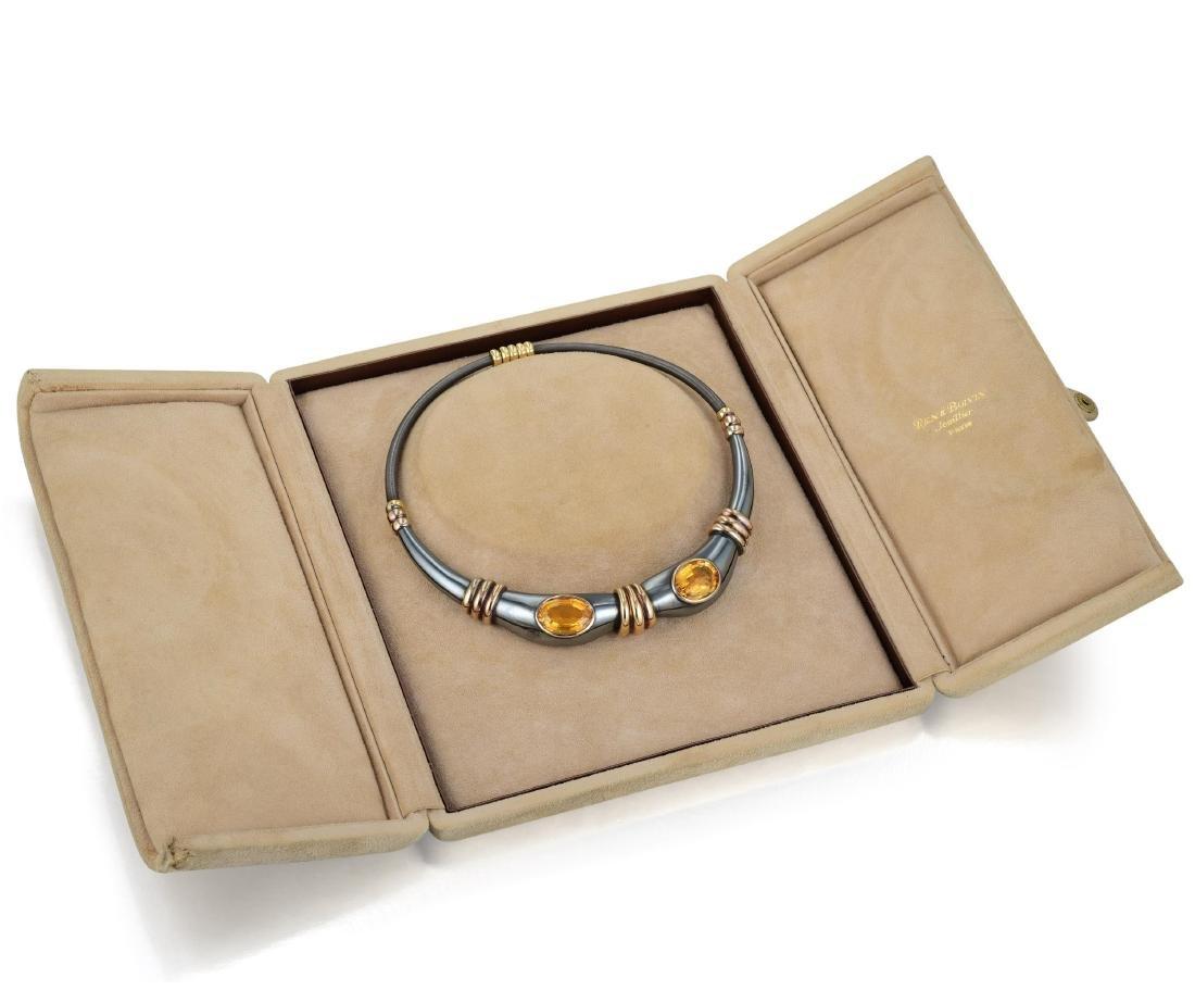 Rene Boivin Citrine Choker Necklace - 3
