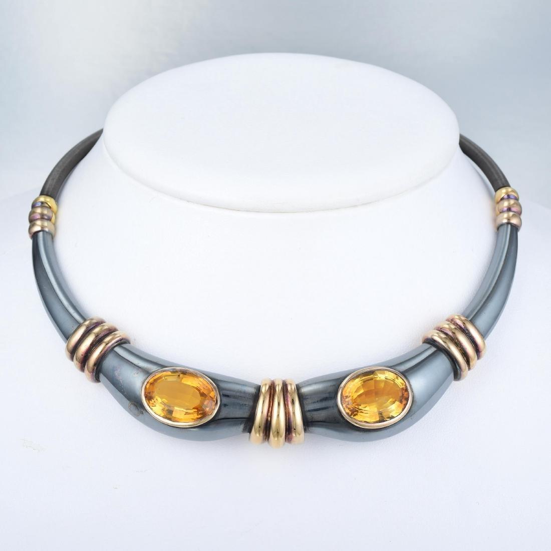 Rene Boivin Citrine Choker Necklace - 4