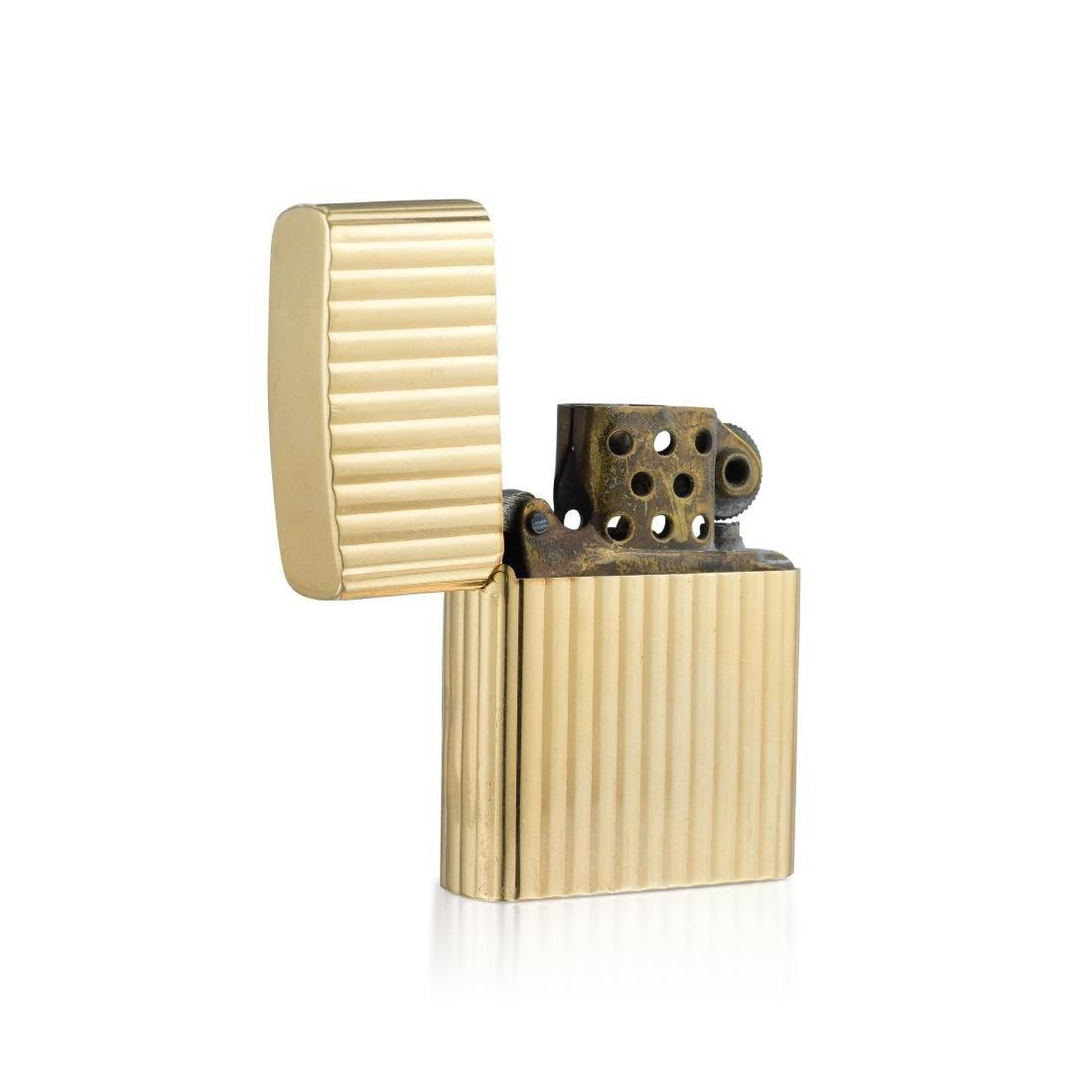 Tiffany & Co. Gold Zippo Lighter - 2
