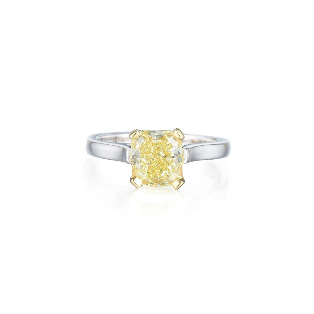 A 2.06-Carat Fancy Yellow Diamond Solitaire Ring