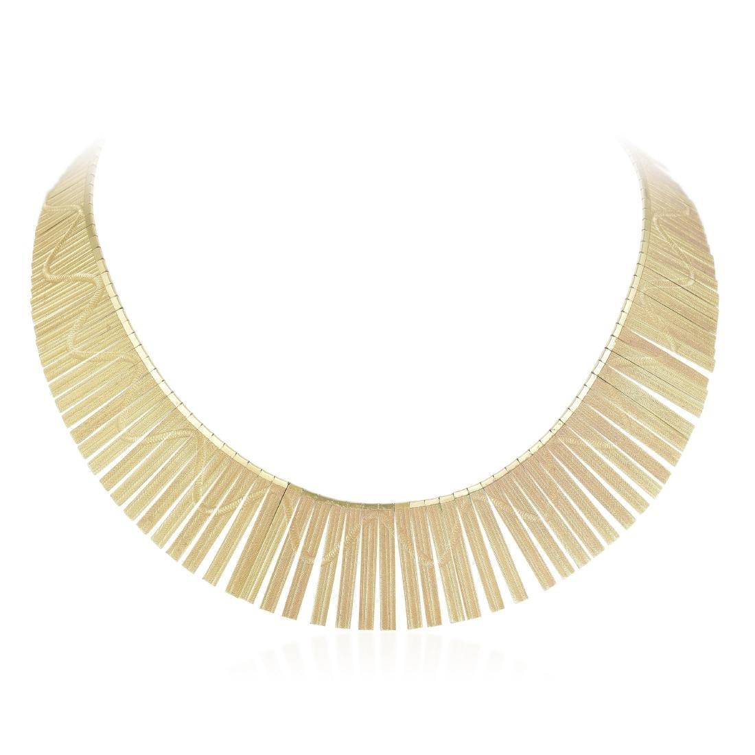 A Gold Fringe Necklace