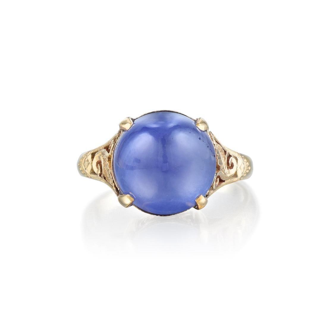 A Star Sapphire Ring