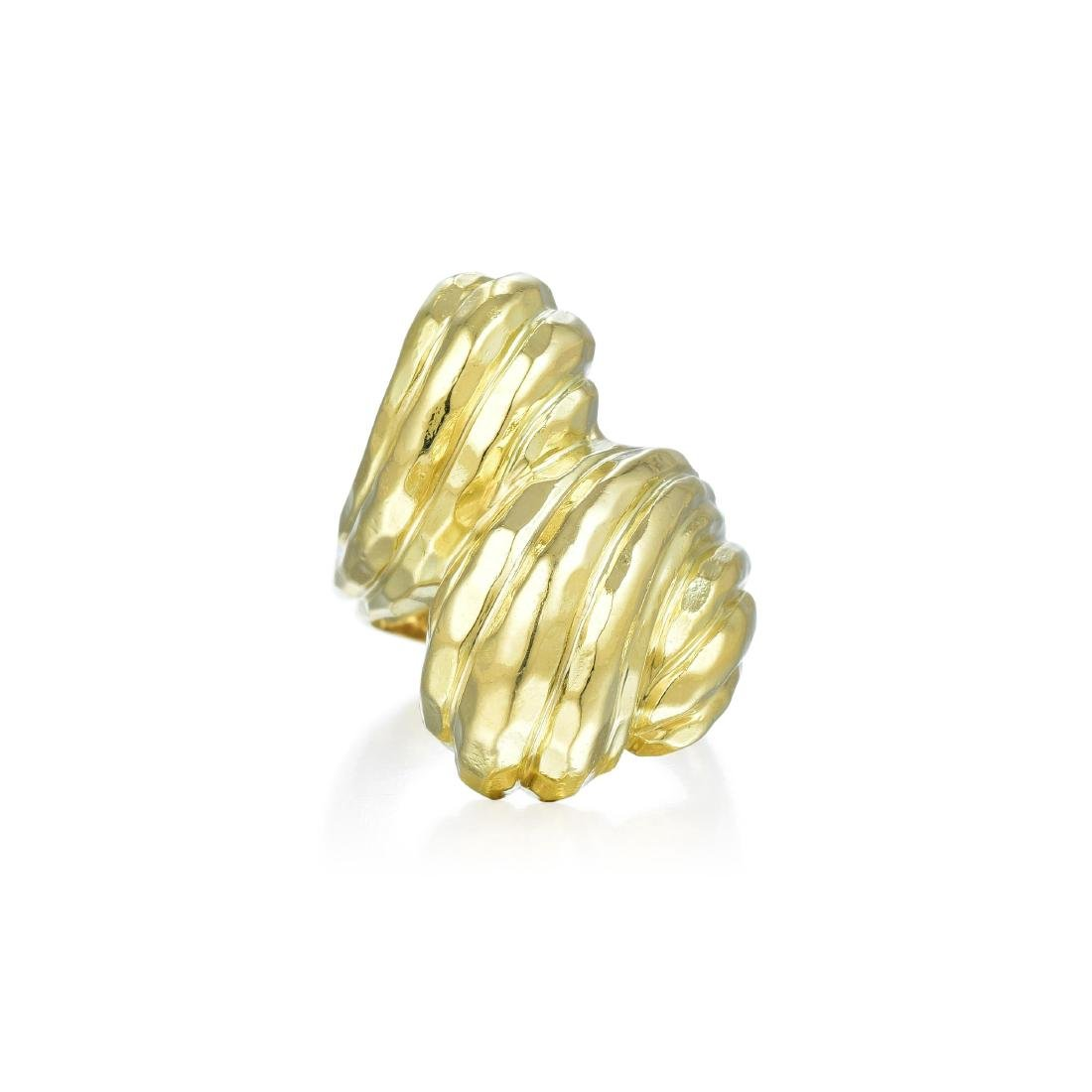 Henry Dunay Gold Crossover Ring