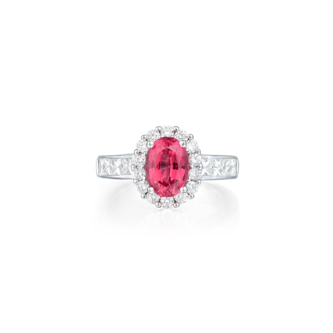 A 2.08-Carat Spinel and Diamond Ring