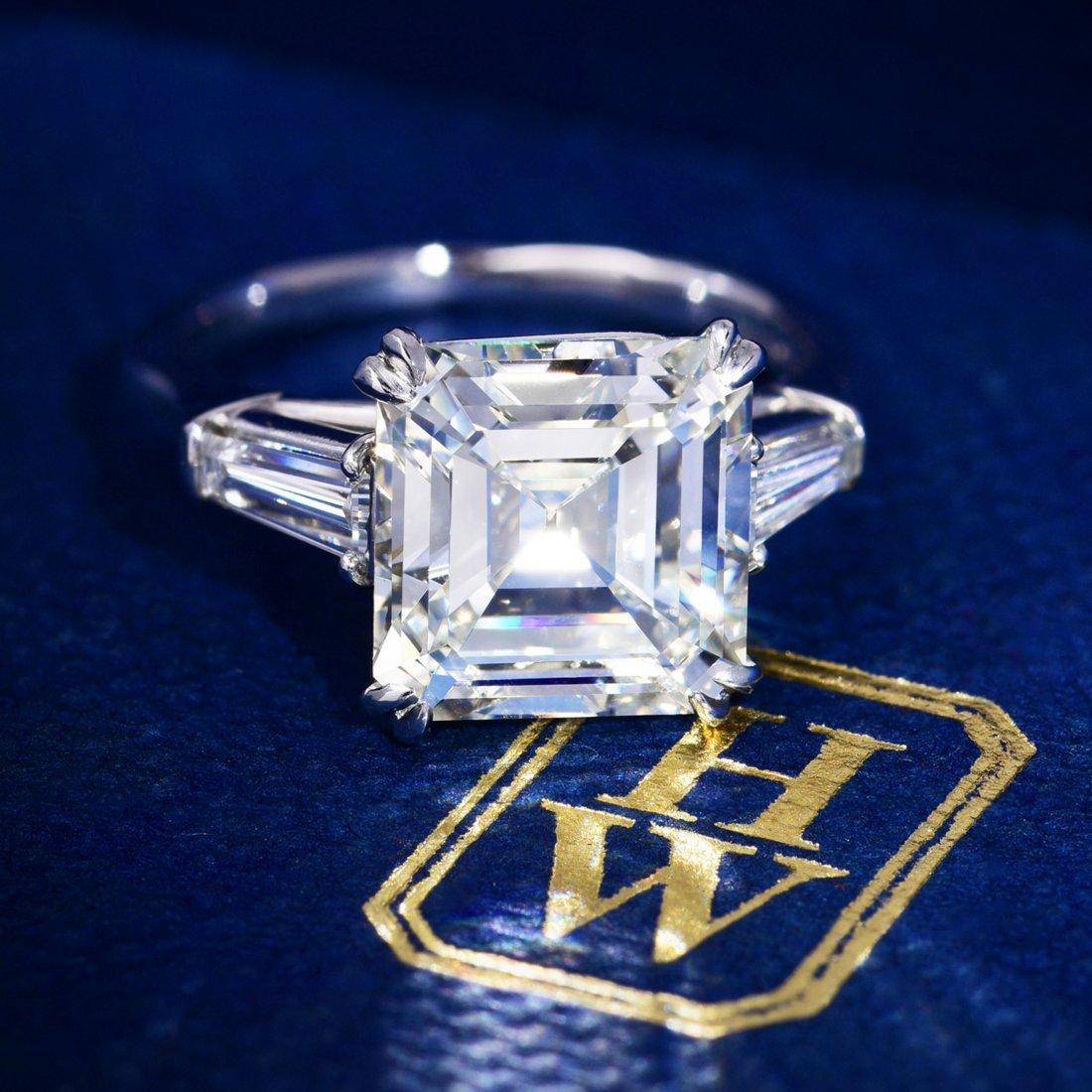Harry Winston Vintage 3.53-Carat Asscher-Cut Diamond