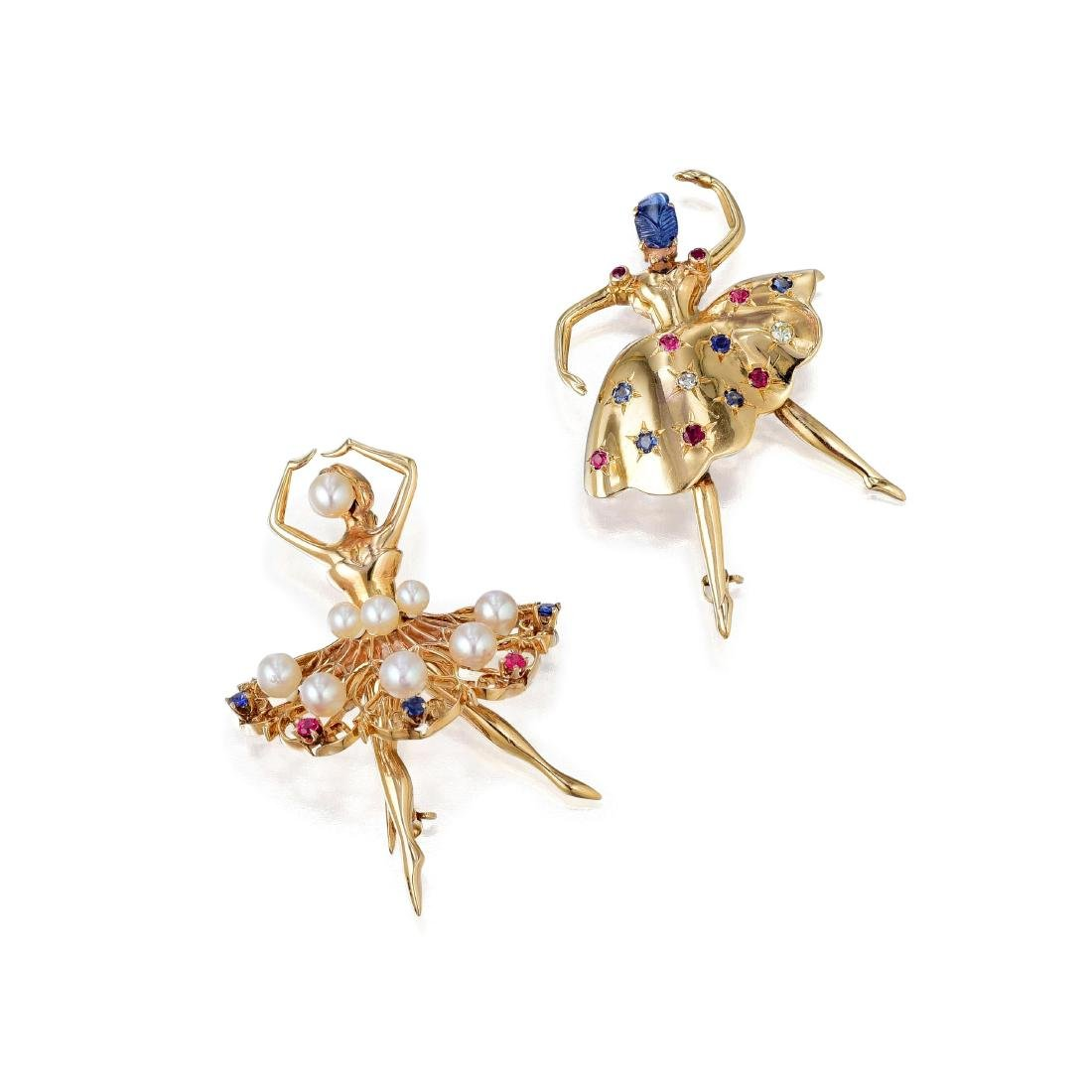 A Pair of Ballerina Pins