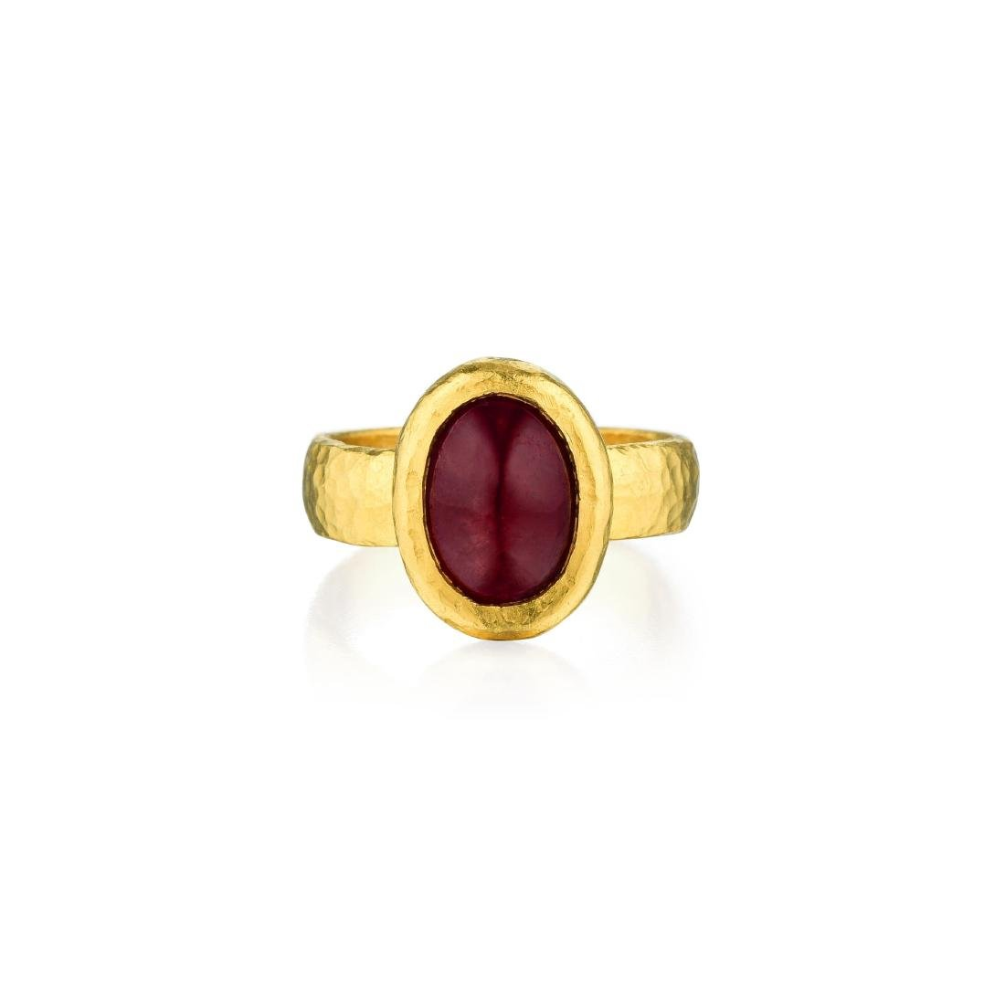 Gurman Ruby High Karat Gold Ring