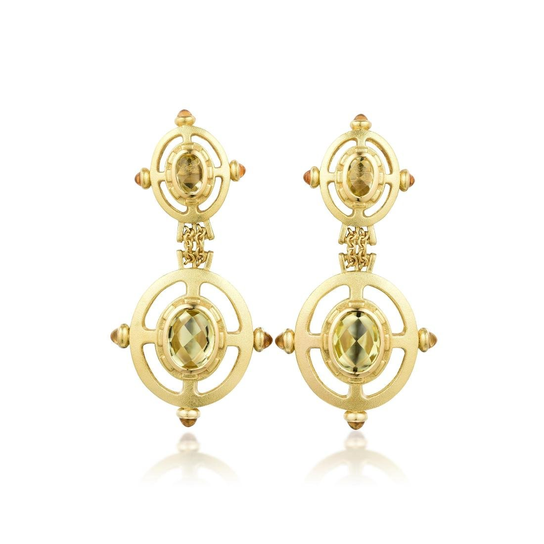 Paul Morelli Citrine and Gold Earrings