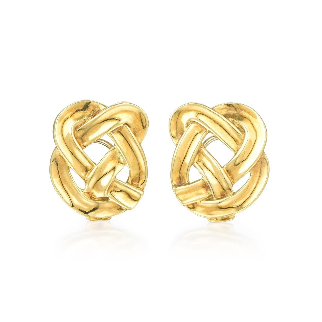Tiffany & Co. Gold Knot Earrings