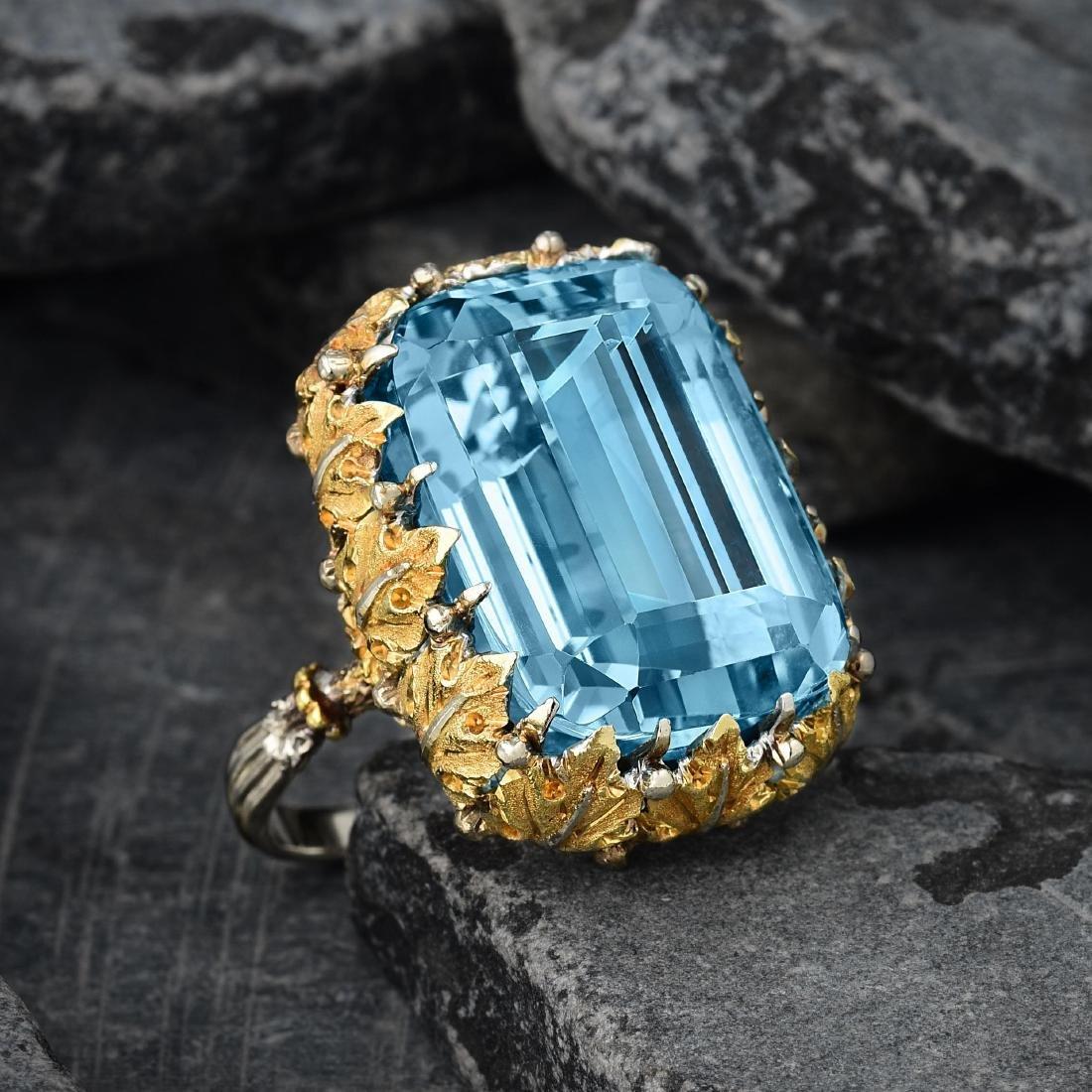 Buccellati Aquamarine Ring