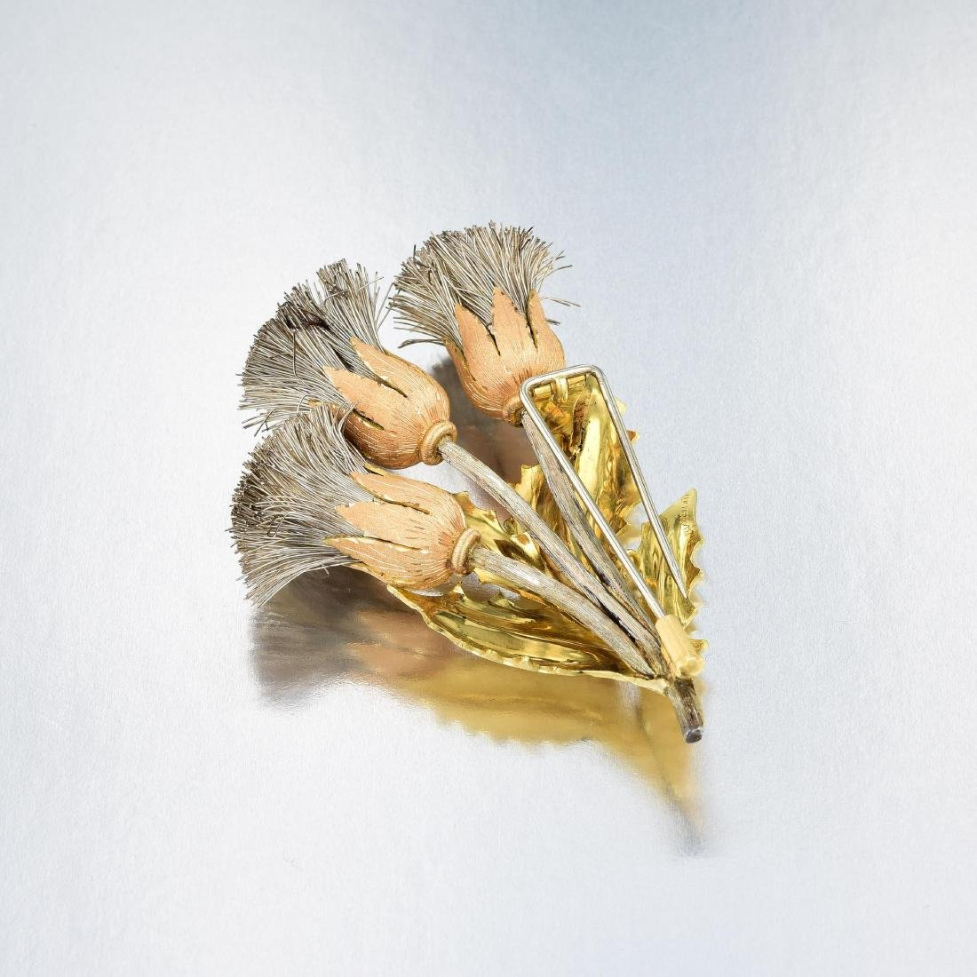 Buccellati Triple Thistle Brooch - 2