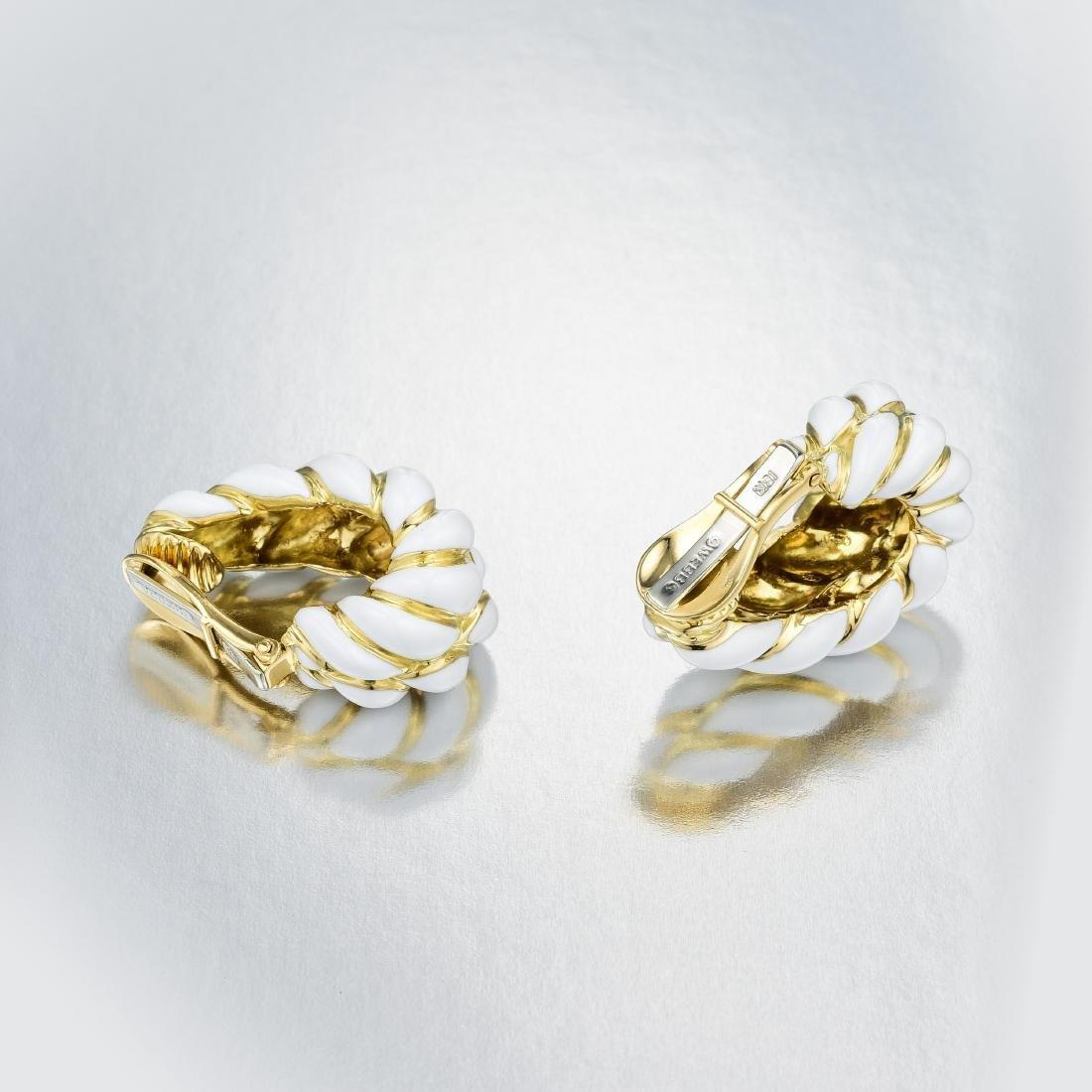 David Webb Gold and Enamel Ear Clips - 2