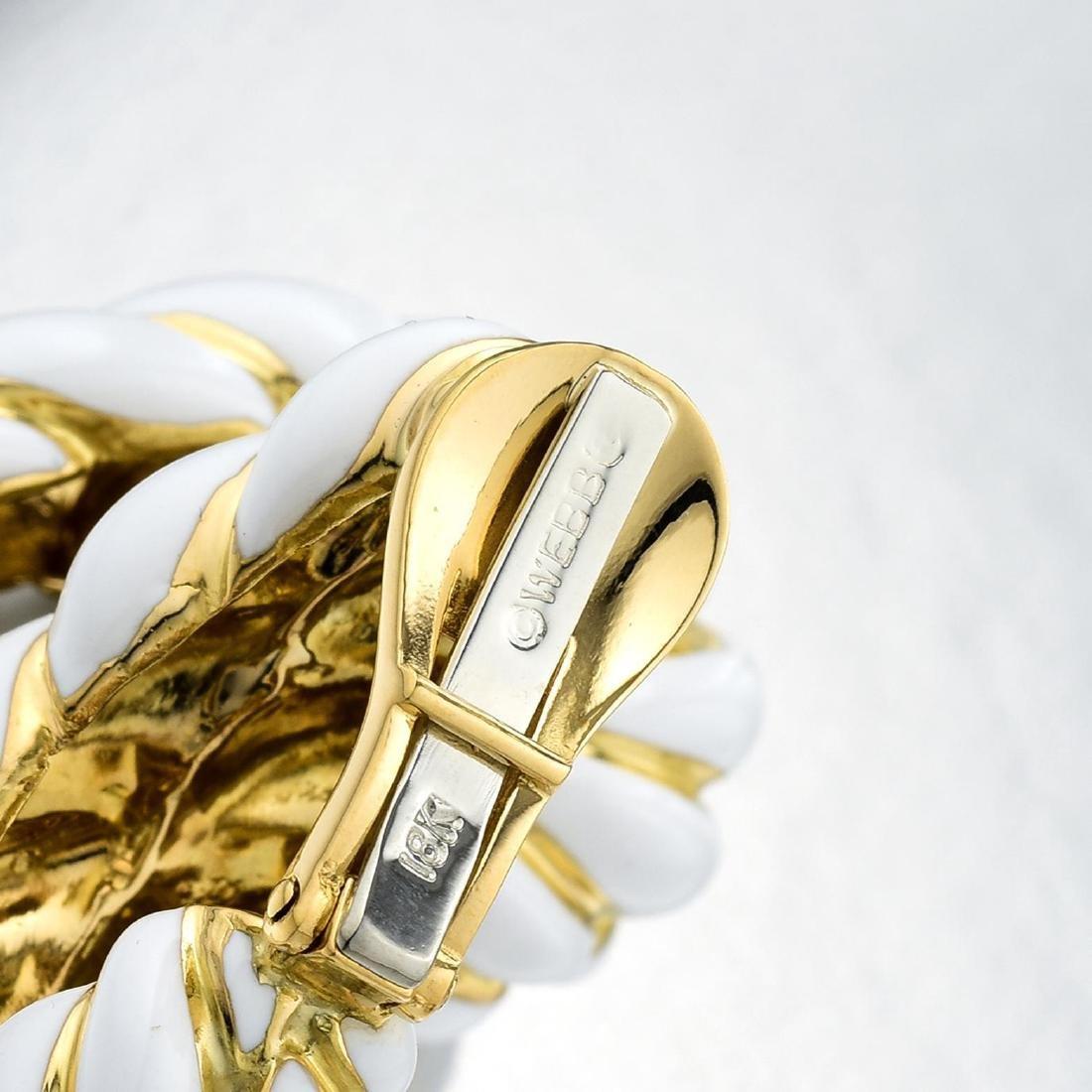 David Webb Gold and Enamel Ear Clips - 3