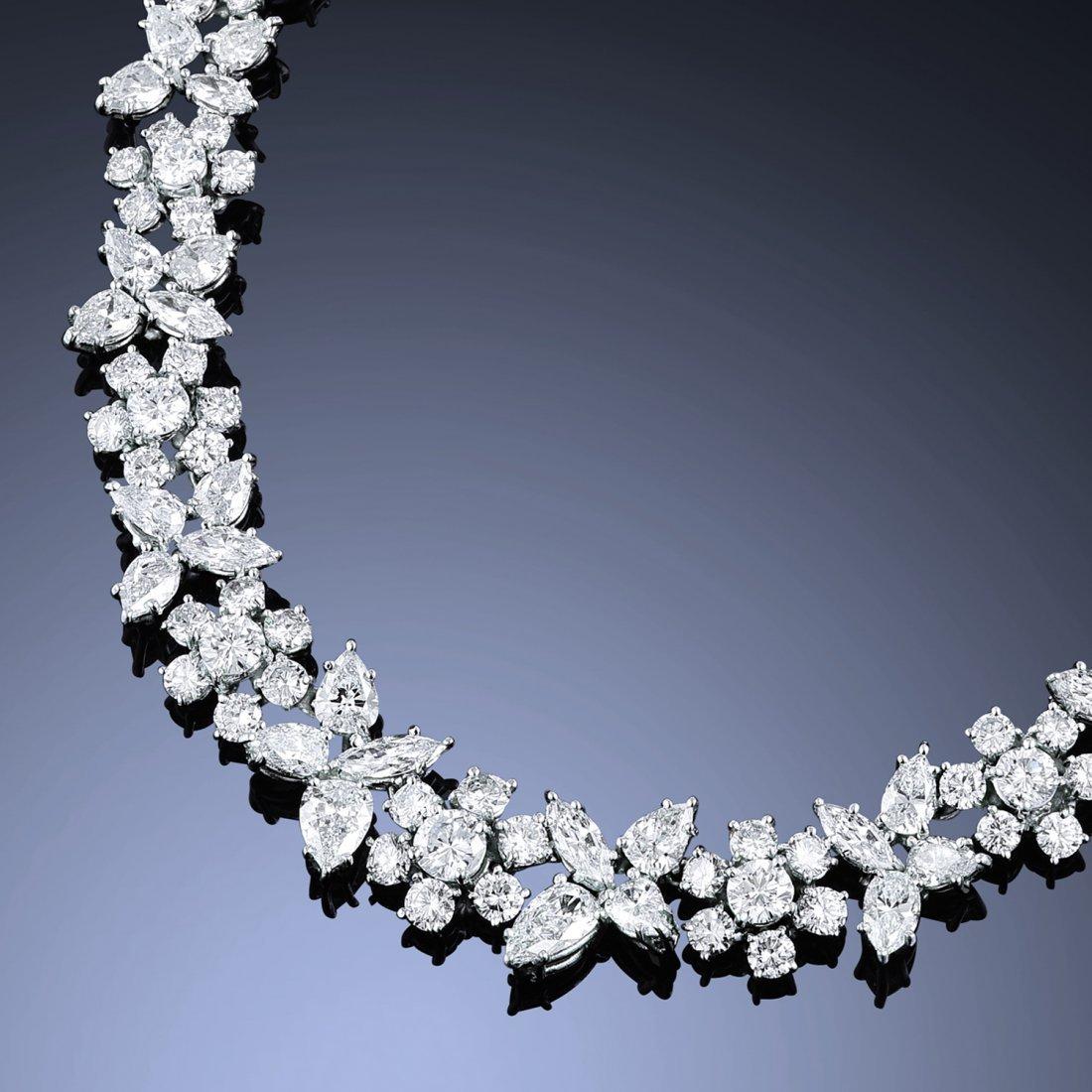 A Platinum Diamond Necklace
