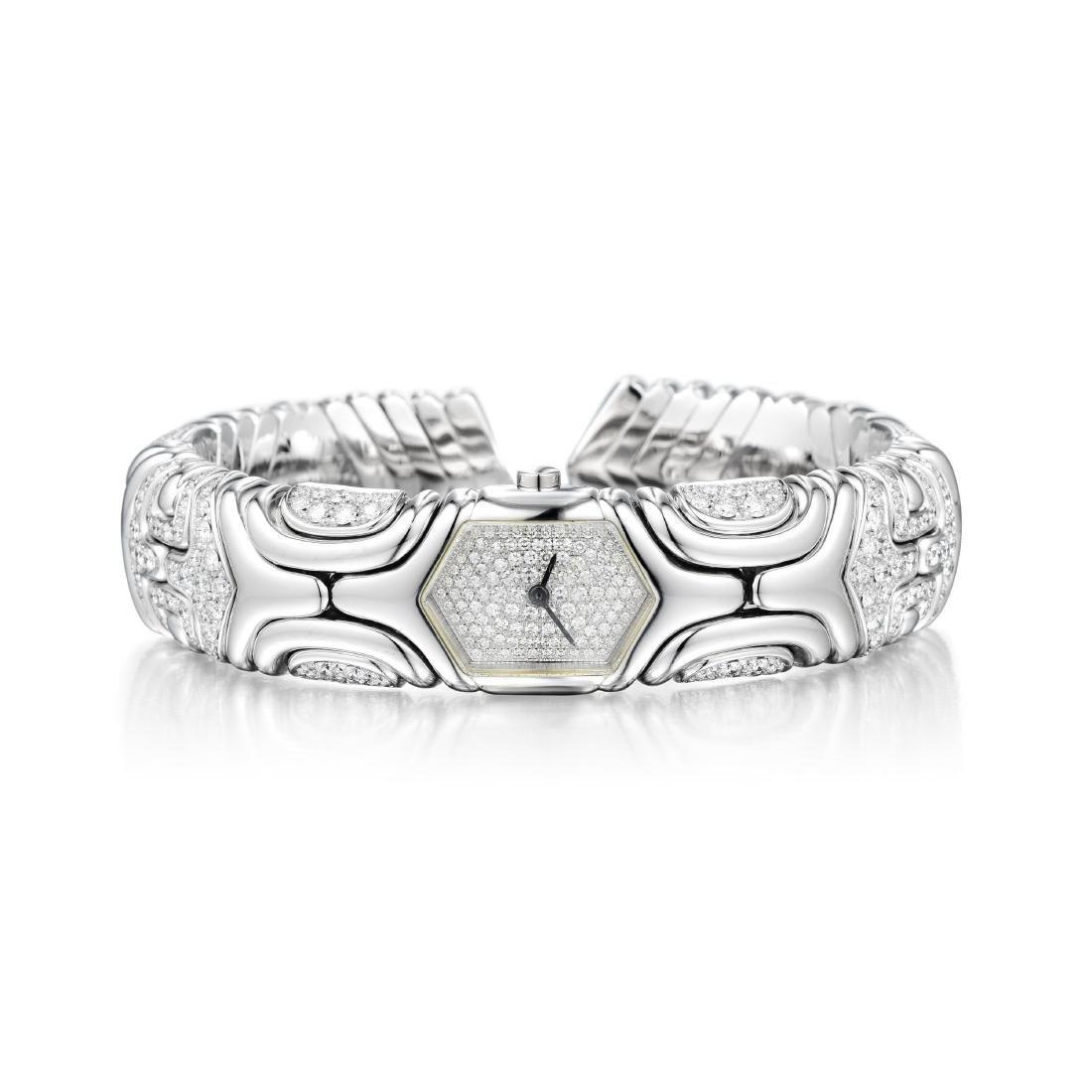 Bulgari Alveare Diamond Cuff Watch
