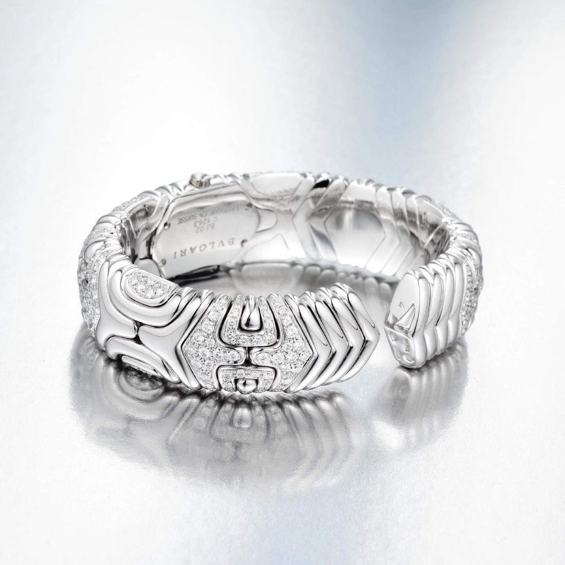 Bulgari Alveare Diamond Cuff Watch - 2