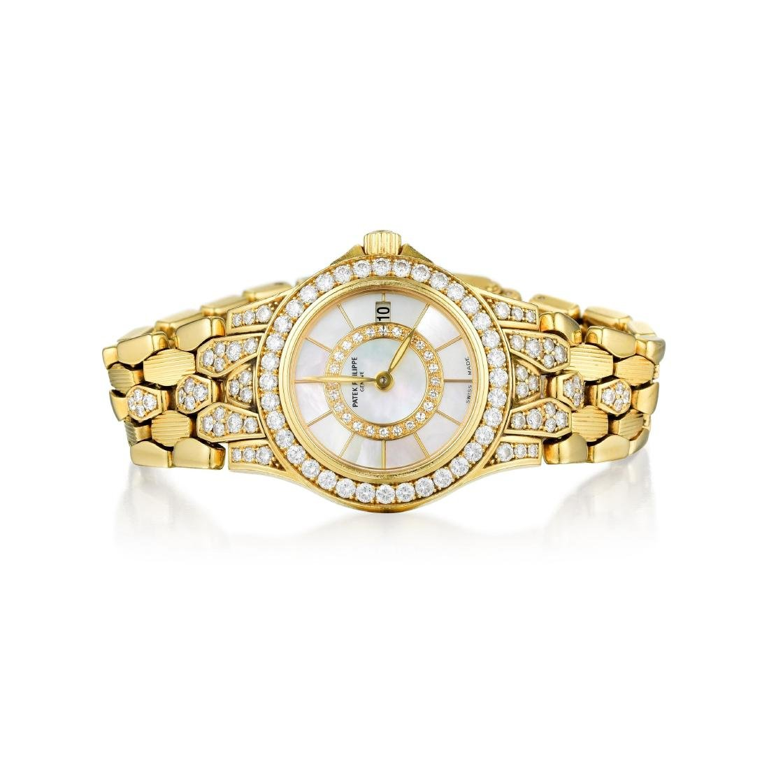 Patek Philippe Neptune Yellow Gold and Diamond Ladies
