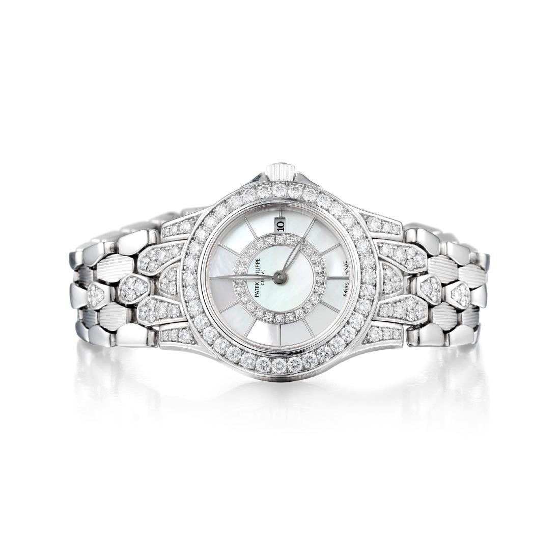 Patek Philippe Neptune White Gold and Diamond Ladies