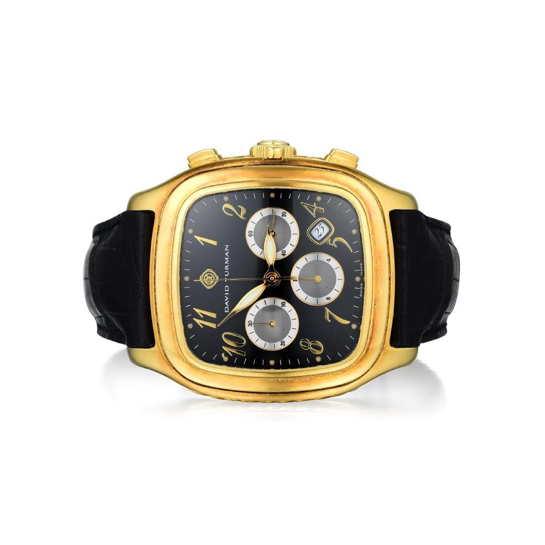 David Yurman Gents Gold Chronograph Timepiece