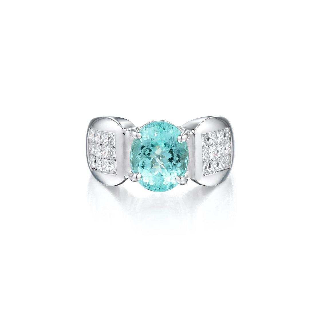 A Paraiba Tourmaline and Diamond Ring