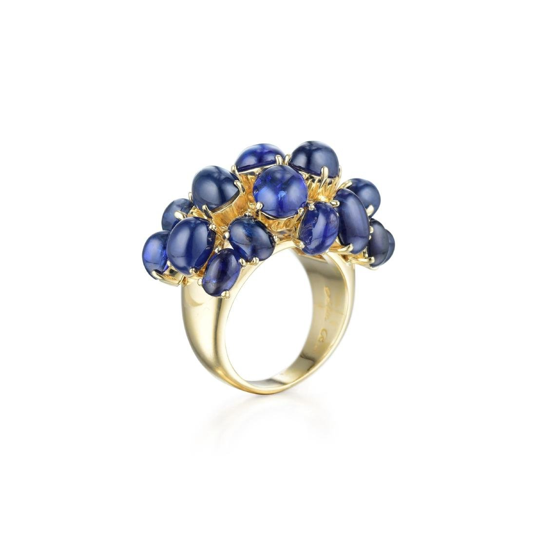 Aletto Brothers 18K Gold Burmese Sapphire Cluster Ring