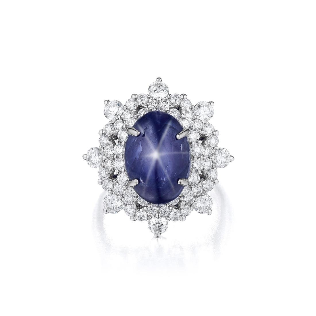 An 18K Gold 5.11-Carat Burmese Star Sapphire and