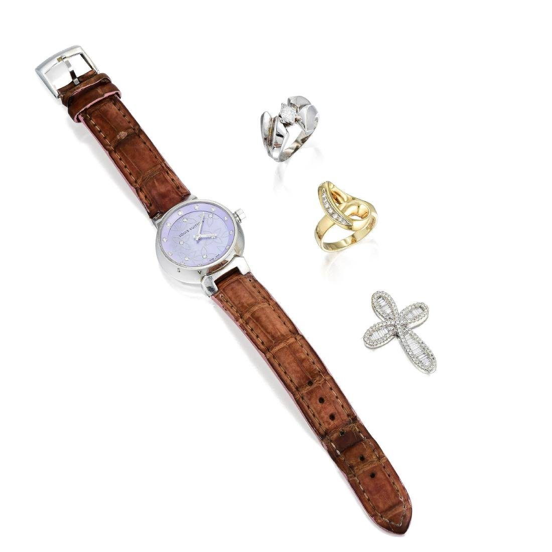 Louis Vuitton Stainless Steel Ladies Watch and a Group