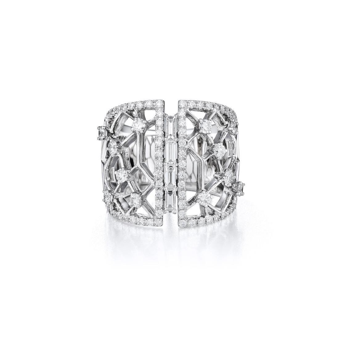 An 18k Gold Diamond Ring