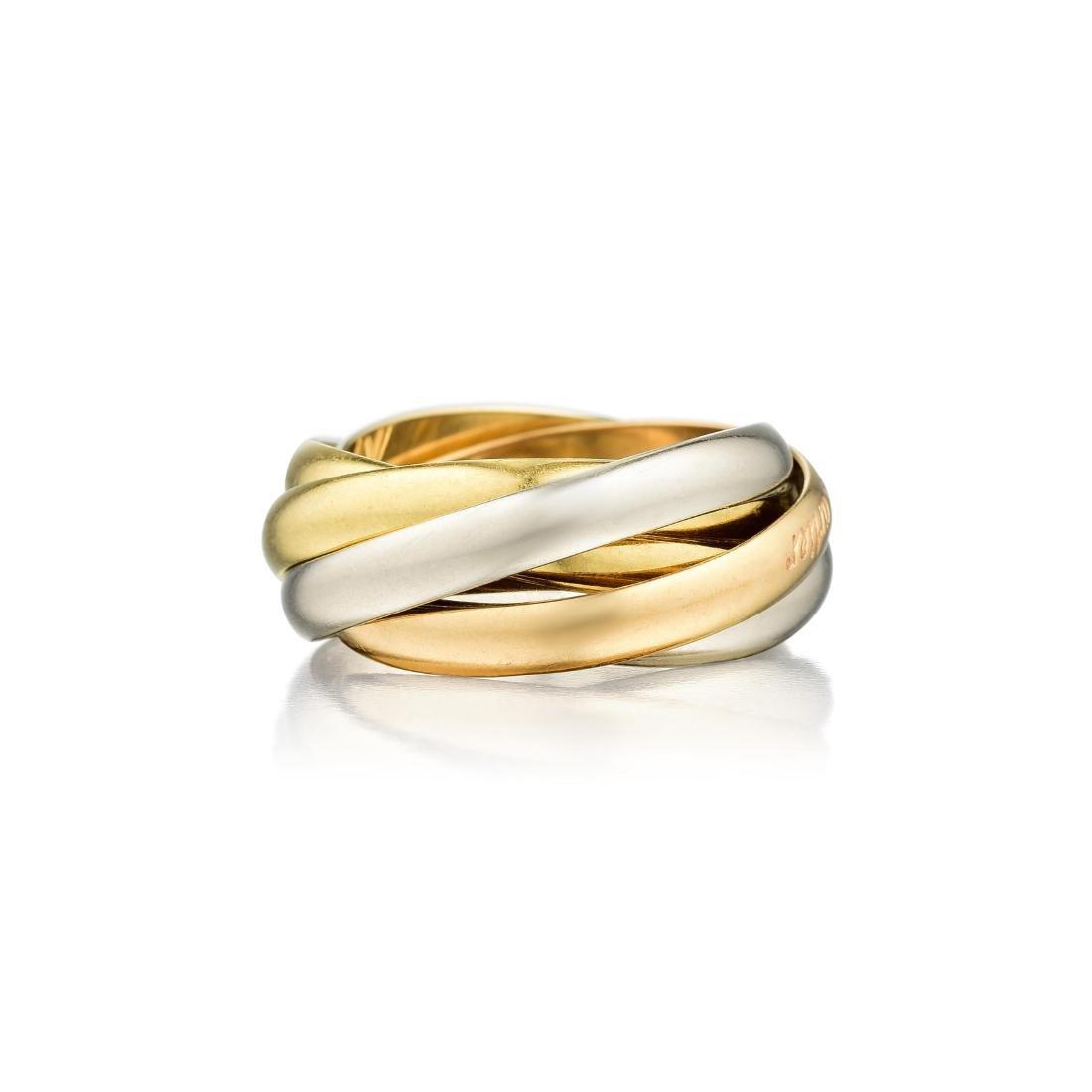"""Cartier 18K Gold """"Les Must de Cartier"""" Trinity Five"""
