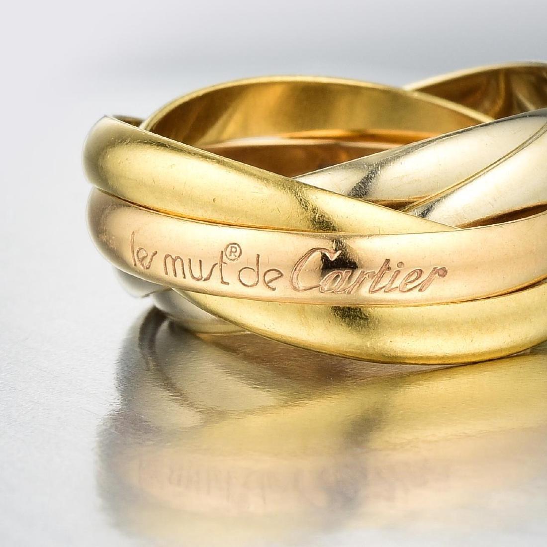 """Cartier 18K Gold """"Les Must de Cartier"""" Trinity Five - 2"""